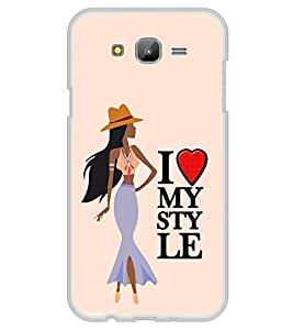 Fiobs Designer Back Case Cover for Samsung Galaxy On7 G600Fy :: Samsung Galaxy Wide G600S :: Samsung Galaxy On 7 (2015) (Fashion Girl Garly Yellow I Love Style)