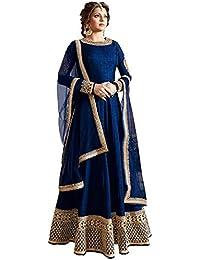 Riyan Enterprise Multi-Color Latest Designer Party Wear, Traditional Anarkali Style Salwar Suit Set With Dupatta... - B078J1QYDB
