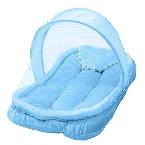 Winkey 85*52cm Baby Bed Portable Folding Mosquito Mesh Net Crib Child (blue)