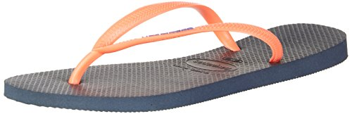 Surf Havaianas (Havaianas Flip Flops Slim Logo Zehentrener für Frauen,Navy (Navy Blue 0555),43/44 EU (41/42 Brazilian))