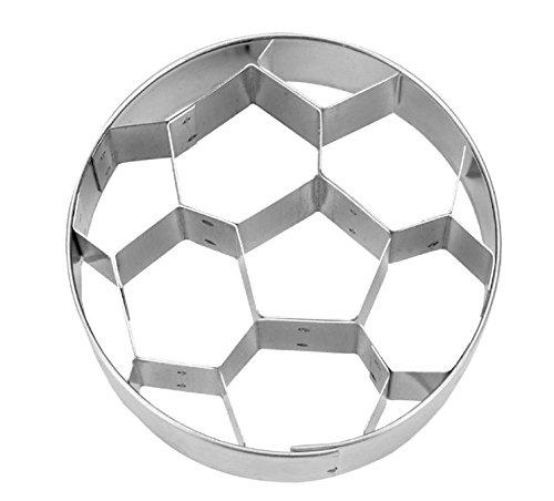 Städter 216747 Präge-Ausstecher Fußball Ausstechform, Silber