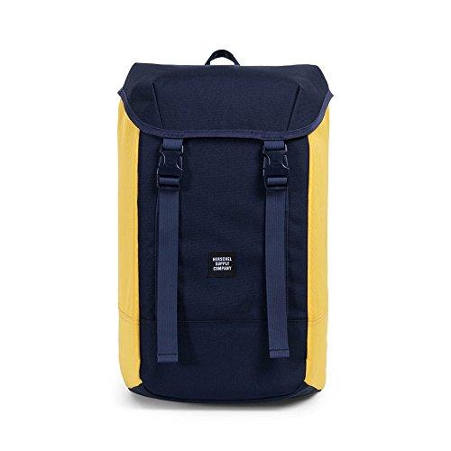 Herschel Iona Backpack - Mochila casual Adulto unisex, Peacoat/Cyber Yellow (Azul) - 10331-01639-OS