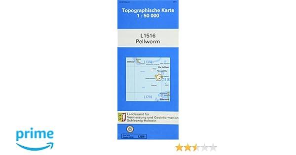 Pellworm Karte.Pellworm 1 50 000 Amazon De Bucher