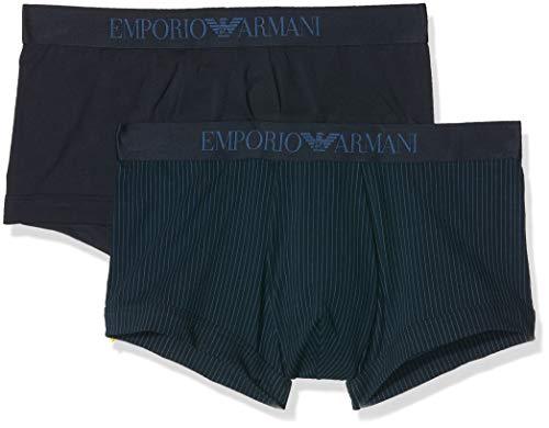 Emporio Armani Underwear Herren Badehose MEN'S KNIT 2PACK TRU Blau (RIGA Marine 58035)), X-Large (Herstellergröße:XL)