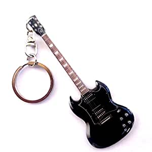 music legends collection porte clefs m tal guitare sg angus young ac dc jeux et jouets. Black Bedroom Furniture Sets. Home Design Ideas