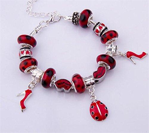 Visic Mode Perlen Kits Marienkäfer Armband Heels Armband -
