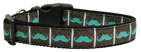Mirage Pet Products Aqua Schnurrbart Band Hundehalsband, groß