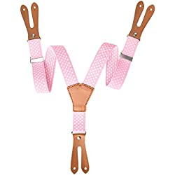 Tirante con lunares para traje de flamenco rosa 5-10 años