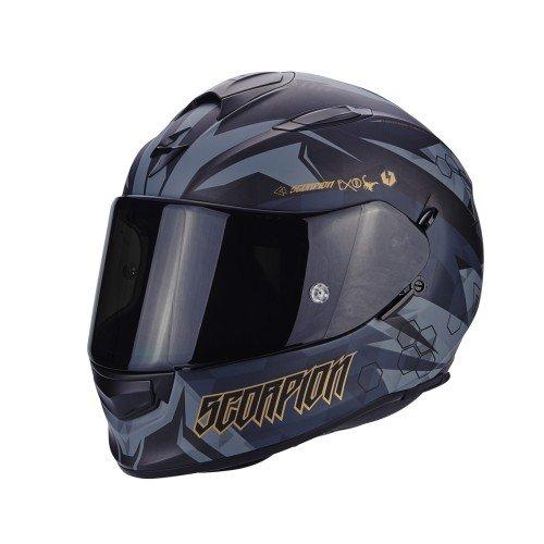 SCORPION Casque moto EXO 510 AIR CIPHER Noir mat Or, Noir/Or, L