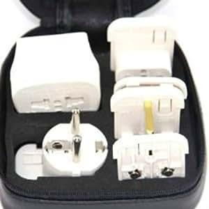 Adaptateurs de Voyage CE - AST-SDVS pour le 220V ou 210V avec indicateur lumineux de voltage + absorbeur de surtensions.