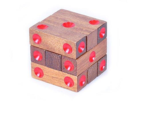 NAUY Adulti giocattoli educativi classici giocattoli di intelligenza giocattolo di legno Dice Stacking giocattolo Giocattoli (Stacking Legno)