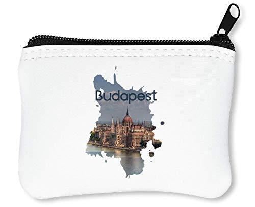 Budapest Series Theme Backpackers Travellers Remember Ancient Reißverschluss-Geldbörse Brieftasche Geldbörse