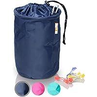 Amazy XXL Bolsa de pinzas para la ropa - Práctica bolsa con gancho de mosquetón para guardar pinzas de ropa para uso en interiores y exteriores (Negro   30 x 20 cm)