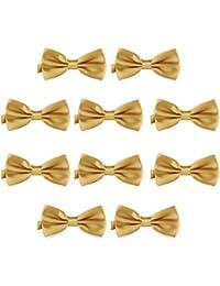 DonDon Lot de 10 Noeud papillon pour homme 12 x 6 cm avec crochet déjà lié 8aac337b915