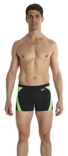 speedo-mens-logo-graphic-splice-aqua-shorts-black-fluorescent-green-size-34