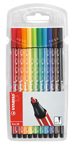 Premium-Filzstift - STABILO Pen 68 - mit 10 verschiedenen Farben