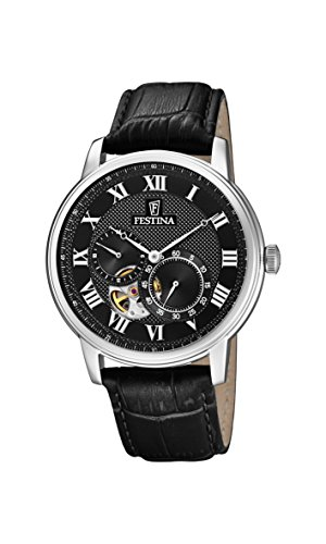 Festina Mens Analogue Classic Automatic Connected Wrist Watch with Leather Strap F6858/3