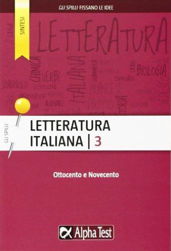 Letteratura italiana: 3 (Gli spilli) por Paola Avella