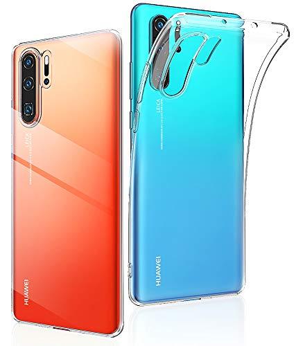 EIISSION Hülle für Huawei P30 PRO, Transparent Weiche TPU Hülle Silikon Case Schutzhülle Anti-Rutsch-Hülle Rückenschutz Stoßfest Abdeckung für Huawei P30 PRO, Transparent