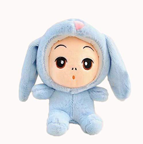 Kostüm Hunde Panda Bär - WYBL SüßeS Baby Plüsch Spielzeug In Kaninchen Kostüm Halloween Weihnachten Geburtstagsgeschenke für Jungen Mädchen Kinder 25cm blau