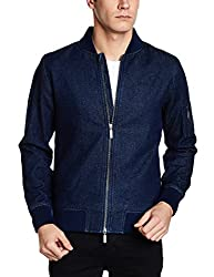 United Colors of Benetton Mens Cotton Jacket (8903975453821_17A2FSIC2028I902M_Blue)