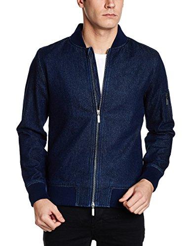 United Colors of Benetton Mens Cotton Jacket (8903975453821_17A2FSIC2028I902M_Blue)