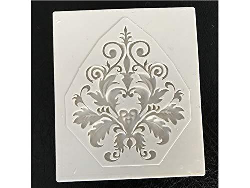 Yhcean suministros de cocina pizzo modello torta stampo in silicone fondente pasta decorazione strumento di goffratura (rosa) gadget per la casa (colore : light grey, dimensione : 6x5.2x0.6cm)