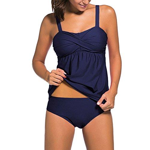Costumi Da Bagno Donne Tankini Vita Alta 2 pezzi Bikini Due Pezzi Swimwear Costume da Bagno 4