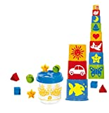 Gowi 453-20 Steckbox Biene mit Pyramide, 20teilig, Stapel- und Steckspielzeug