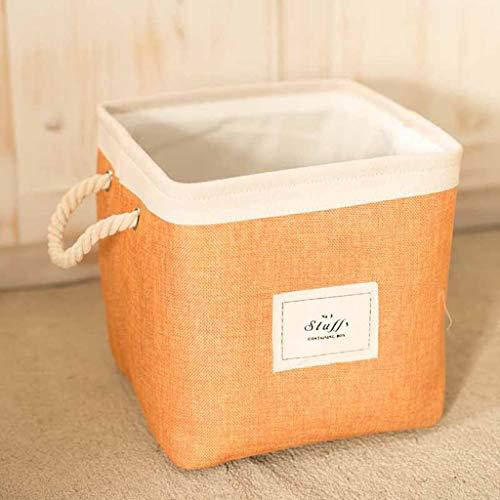 JCCOZ Faltbarer Rechteckiger Aufbewahrungskorb, Verdickter Spielzeug-Aufbewahrungskorb, Kosmetik-Aufbewahrungsbox Für Regale, Kleiderschrank Ablagekorb (Color : Orange, Size : S) (Foto-requisiten Zum Verkauf)