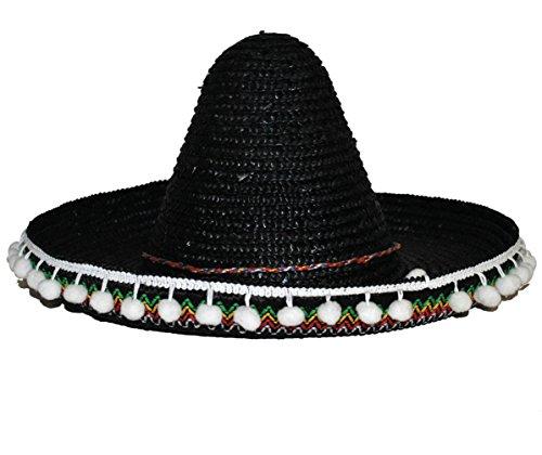 Karneval Klamotten Kostüm Riesenhut Mexico schwarz Zubehör Hut Karneval