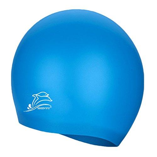 ilikon Schwimmen Kappen Ohr schützt Schwimmen Kappen Hut Abdeckung für erwachsene Kinder Kinder (Dreadlock-hüte Für Männer)