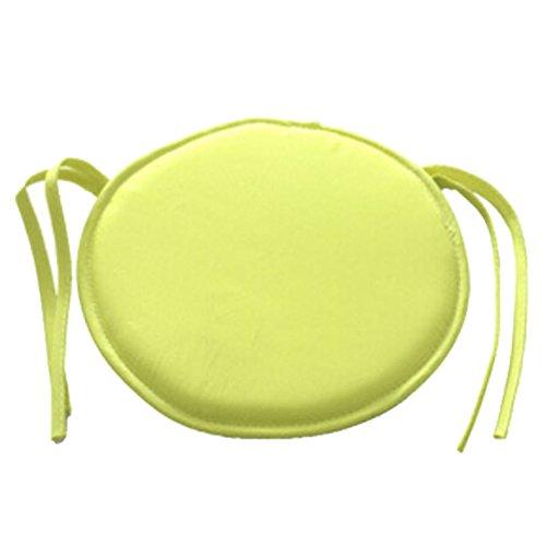 Runde Patio Kissen (vap26 Indoor Dining Garden Patio Home Office Küche Runde Stuhl Sitzkissen Kissen(Gelb))