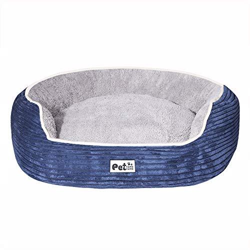 Tiners Haustierbett Mode Muster Deluxe Orthopädische Baumwolle Pad Sofa Matratze Cord Und Abnehmbare Und Waschbar Rutschfeste Home Mat Hund & Katze,Blue,S -