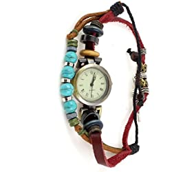 Minority Retro Style Handmade Braid Strand Wrist Bracelet Watch