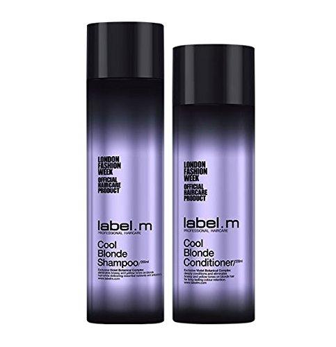 Label. m Cool blond Shampoo 250ml und Conditioner 200ml (Heidelbeere Formeln)