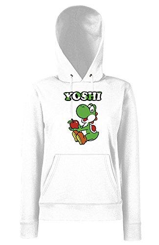 TRVPPY - Sweat Pull à capuche, modèle YOSHI - Femme, différentes tailles et couleurs Blanc