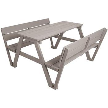 f859b87bf8 roba Kinder Outdoor Sitzgruppe 'Picknick for 4', Sitzgarnitur mit 2 Bänken,  1