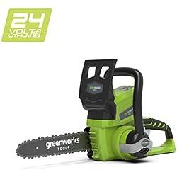 Greenworks Tronçonneuse sans fil sur batterie 25cm 24V Lithium-ion (sans batterie ni chargeur) - 2000007