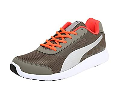 Puma Men's Castor Gray-Red Blast Black Sneakers-6 UK/India (39 EU) (36754701)