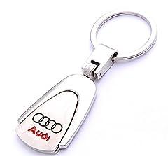 Idea Regalo - Audi-Portachiavi in metallo di alta qualità, resistente, portachiavi con logo Audi-Portachiavi