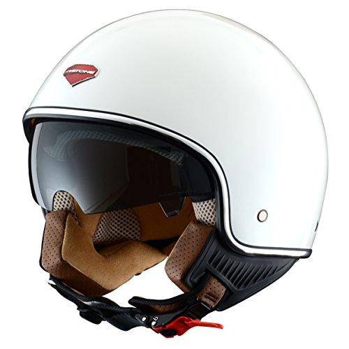 Astone Helmets Casco Jet-Mini, diseño Retro, color Blanco (Gloss Blanco), talla S