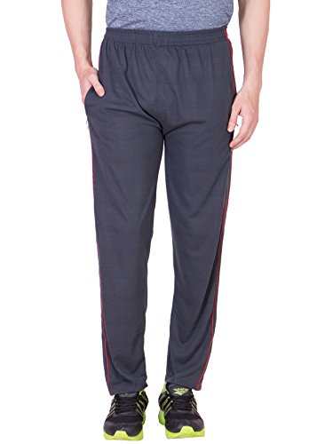 Grabberry Men's Solid Grey Cotton Track Pant