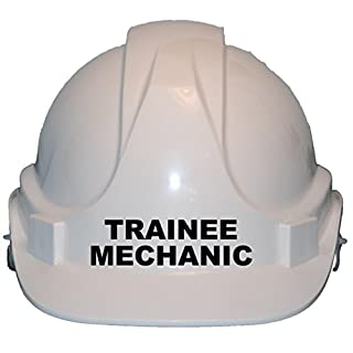 Trainee Mechanic Children, Kids Genuine Hard Hat Safety Helmet With Chin Strap One Size Adjustable Suitable for 2-12 Years White Complies With EN397 Safety Standard by Acce Products