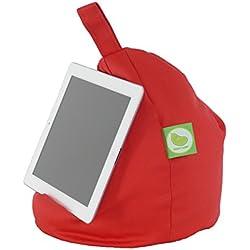 Bean Lazy - Puf pequeño para iPad, lector de libros electrónicos y libros, compatible con todas las tabletas y lectores electrónicos, color rojo