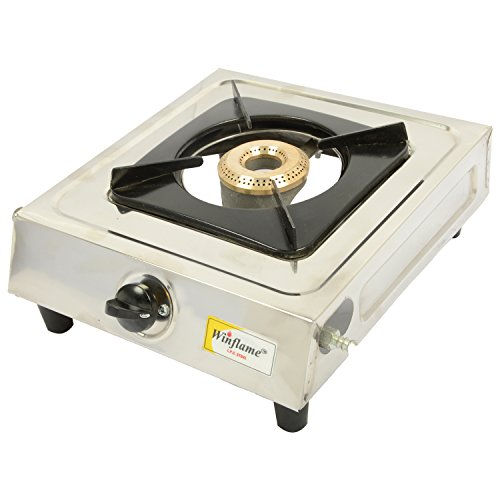 Winflame 1 (Single) Burner Stainless Steel L.P. Gas Stove(Silver)