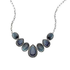 ZEEme Fashion Unisex-Collier mit blauen Steinen Lnge 45-51cm 420050003