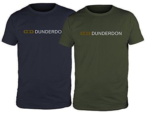 Dunderdon Workwear T4 T-Shirt mit Logo, 2-Pack, blau und olive, Größe XXXL