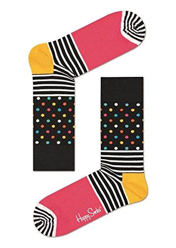Happy Socks Stripes & Dots Black/Pink Socks