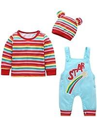 BABIFIS Nueva colección Primavera/Verano para bebés, Traje Infantil, Camiseta a Rayas con
